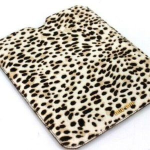 AUTHENTIC MIU MIU Leopard Calf Hair iPad case